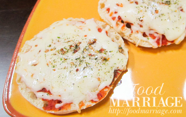 Mini Pizzas on English Muffins Recipe @FoodMarriage