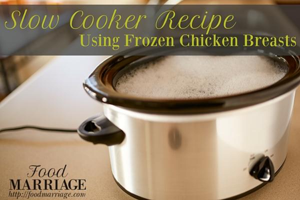 Cook frozen chicken breast in crockpot on high