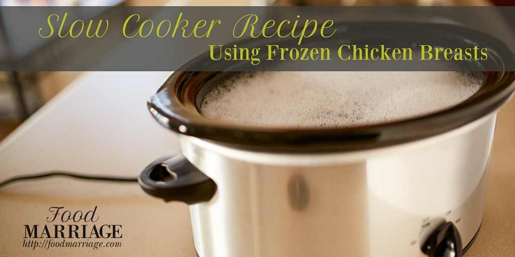 One of the dishes you can make is to put the frozen chicken in crock pot. One simple crock pot cooking method involves using a chicken, straight from the freezer. There is no need to thaw the chicken or pre-cook it before placing it in the crock pot.