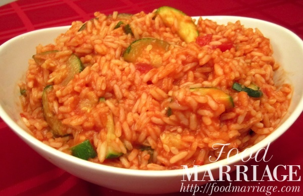 Zucchini And Rice In Stewed Tomato Sauce Food Marriage