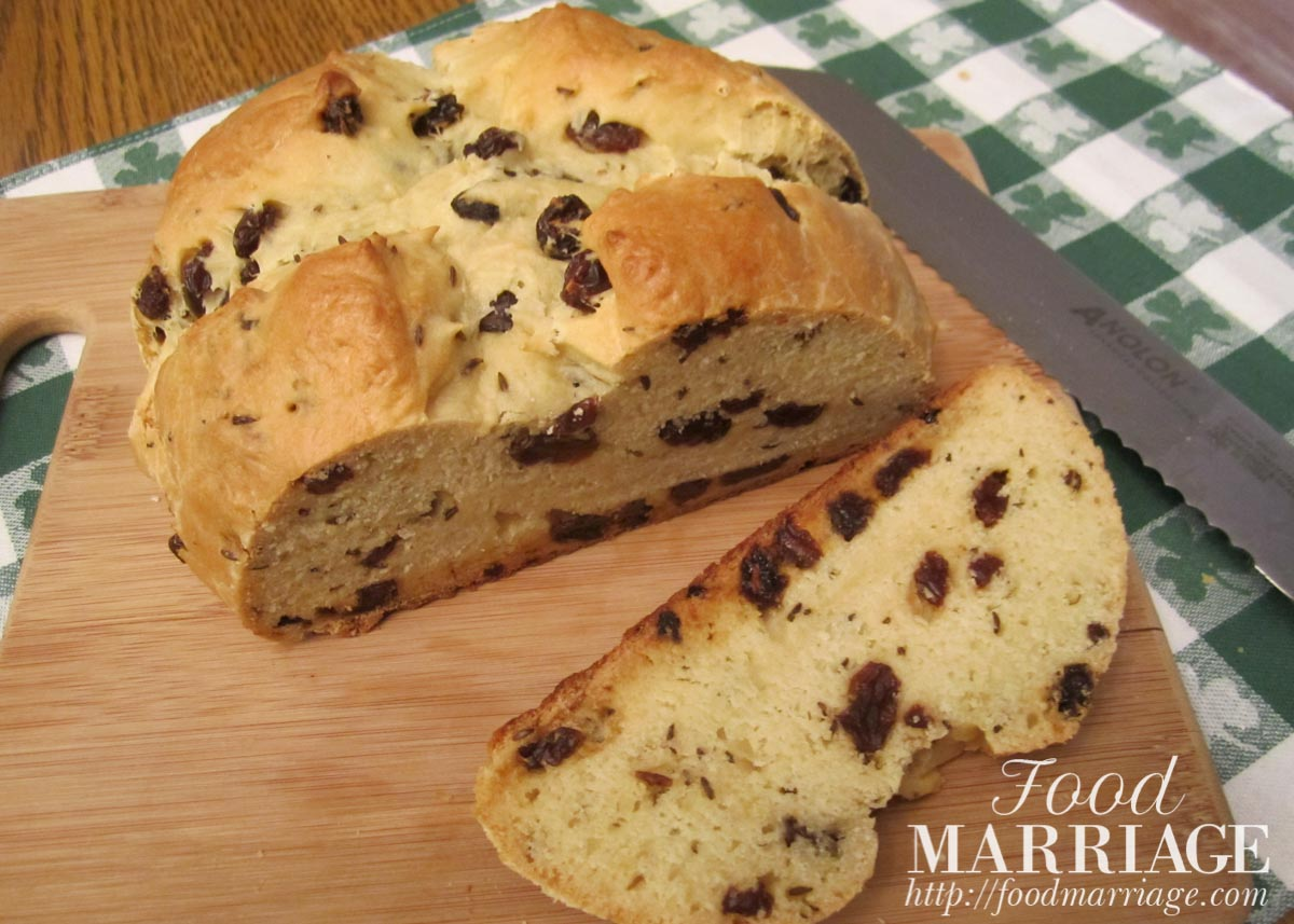 Easy Irish Soda Bread Recipe - make it for St. Patrick's Day! It is quick and done in under an hour. | FoodMarriage.com