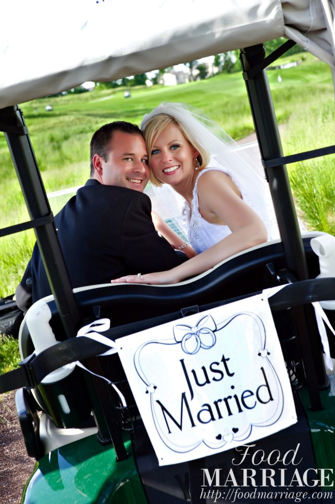 Golf Cart Wedding Photo - Food Marriage Blog - Being Married, Having Fun, Loving Life & Loving Food!