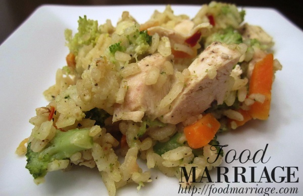Risotto with Chicken and Vegetables Food Marriage