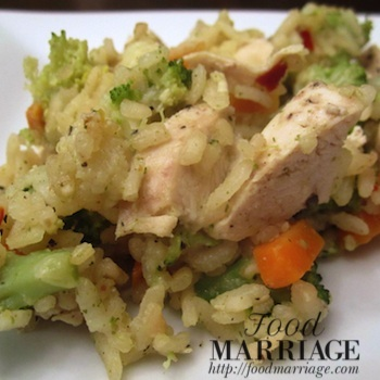 Garlic Primavera Risotto with Chicken & Vegetables