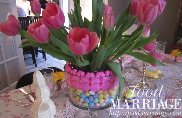 Easter Centerpiece Idea with Peeps @FoodMarriage