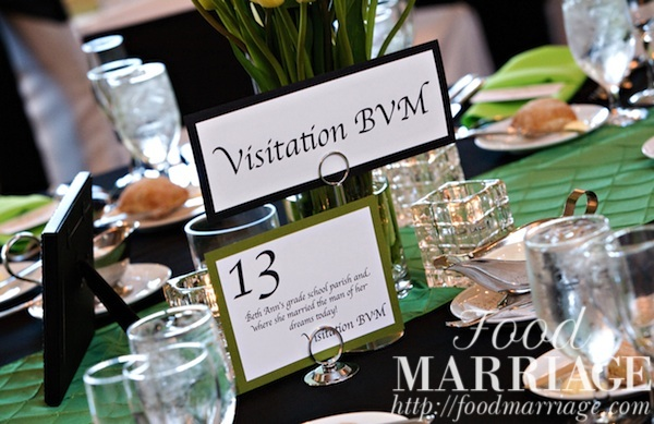 Wedding Table Name Idea Visitation BVM @FoodMarriage