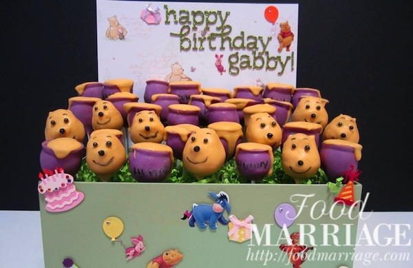 Winnie the Pooh Cake Pops Display @FoodMarriage