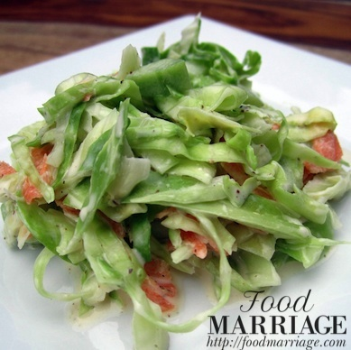 Sweet Summer Cole Slaw with Cucumbers