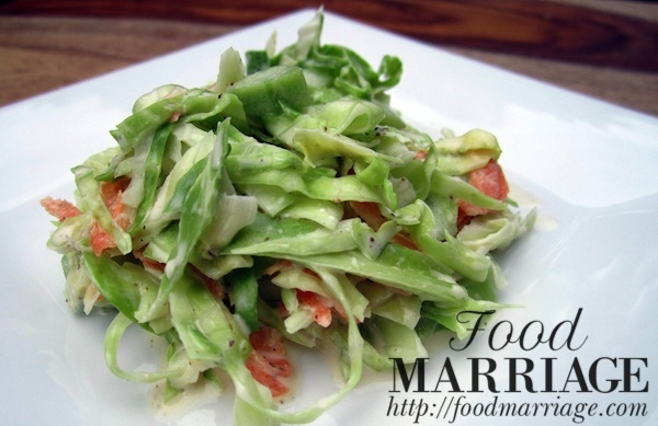 Homemade Cole Slaw Recipe with Cucumbers @FoodMarriage