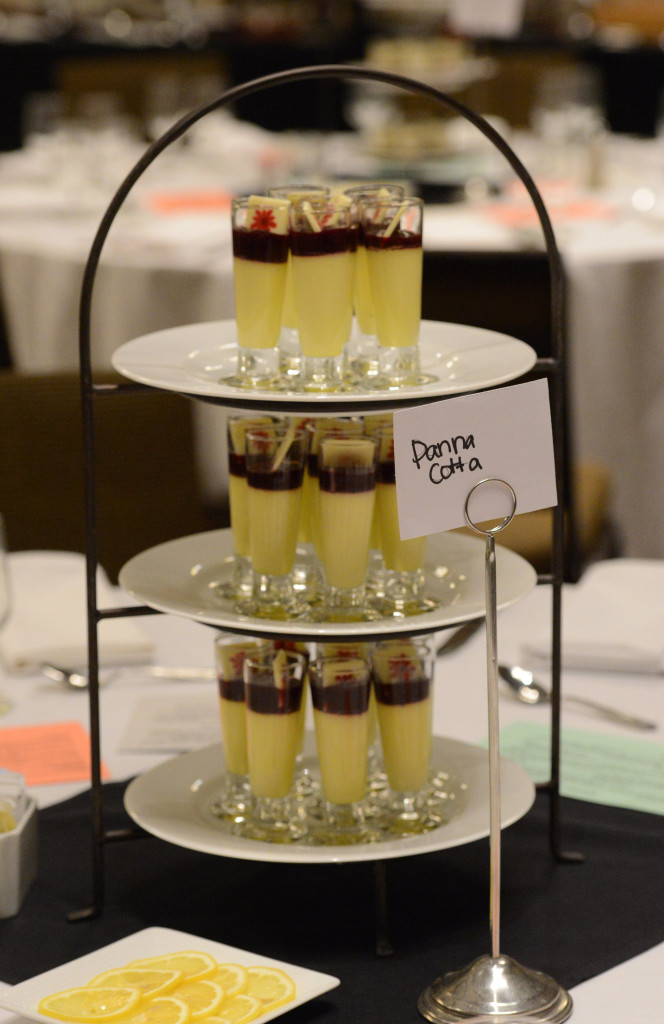 Naming Wedding Reception Tables After Desserts: Panna Cotta @FoodMarriage