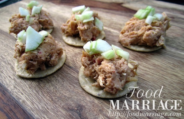 BBQ Chicken Salad Bites @FoodMarriage
