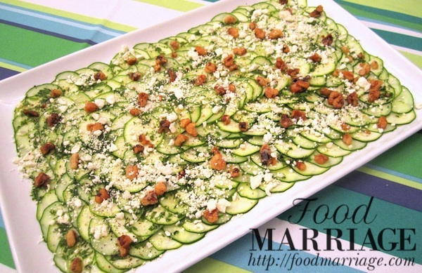 Cucumber Zucchini Salad Recipe @FoodMarriage