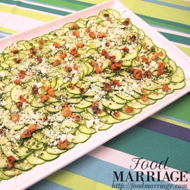 Cucumber and Zucchini Salad in a Lemon Vinaigrette