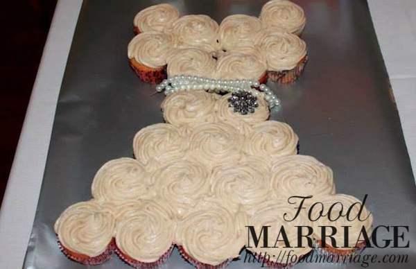 Wedding Dress Cupcakes FoodMarriage