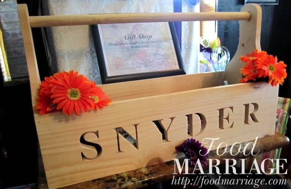 Wishing Well for Groom Personalized Toolbox @FoodMarriage