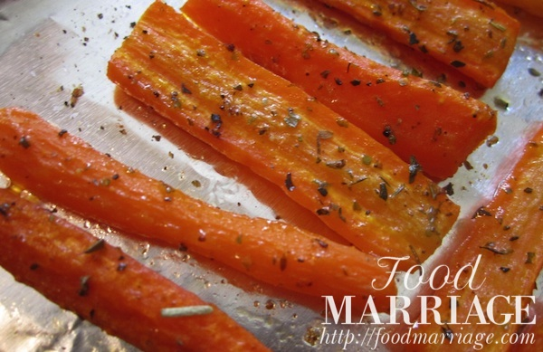 Roasted Carrot Sticks Recipe @FoodMarriage