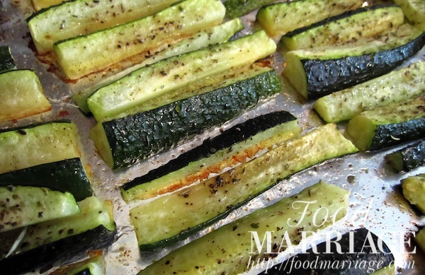 Roasted Zucchini Sticks Recipe @FoodMarriage