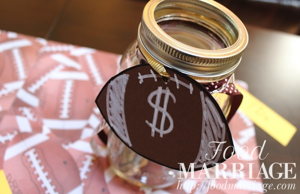 Girls Fantasy Football Draft Party: Money Jar @FoodMarriage
