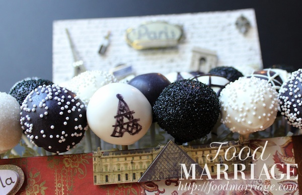 Paris Eiffel Tower Themed Cake Pops @FoodMarriage