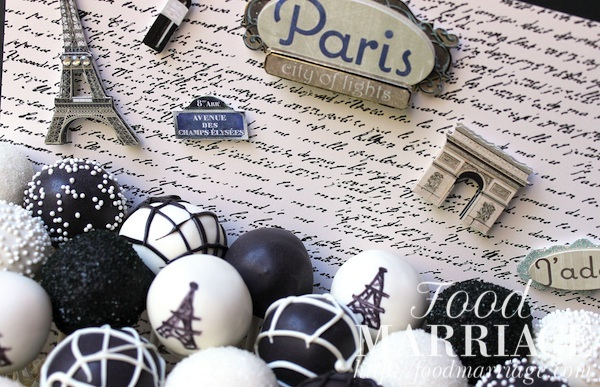 paris eiffel tower themed cake pops foodmarriage
