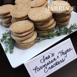 Parmesan & Thyme Crackers - Ina Garten Recipe @FoodMarriage