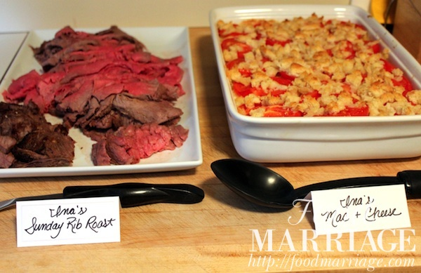 Ina Garten's Sunday Rib Roast and Baked Mac and Cheese @FoodMarriage