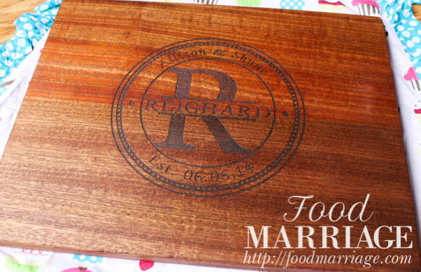 Custom Engraved Personalized Cutting Board