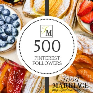 FoodMarriage.com Hits over 500 Pinterest Followers