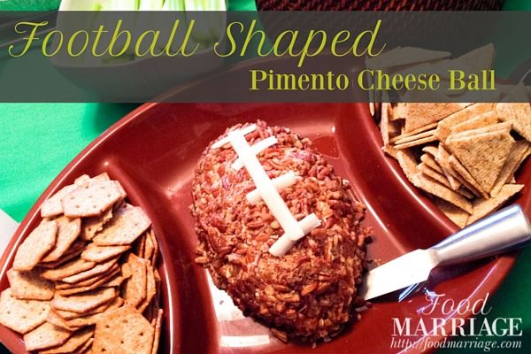 Football Shaped Pimento Cheese Ball Recipe | FoodMarriage.com