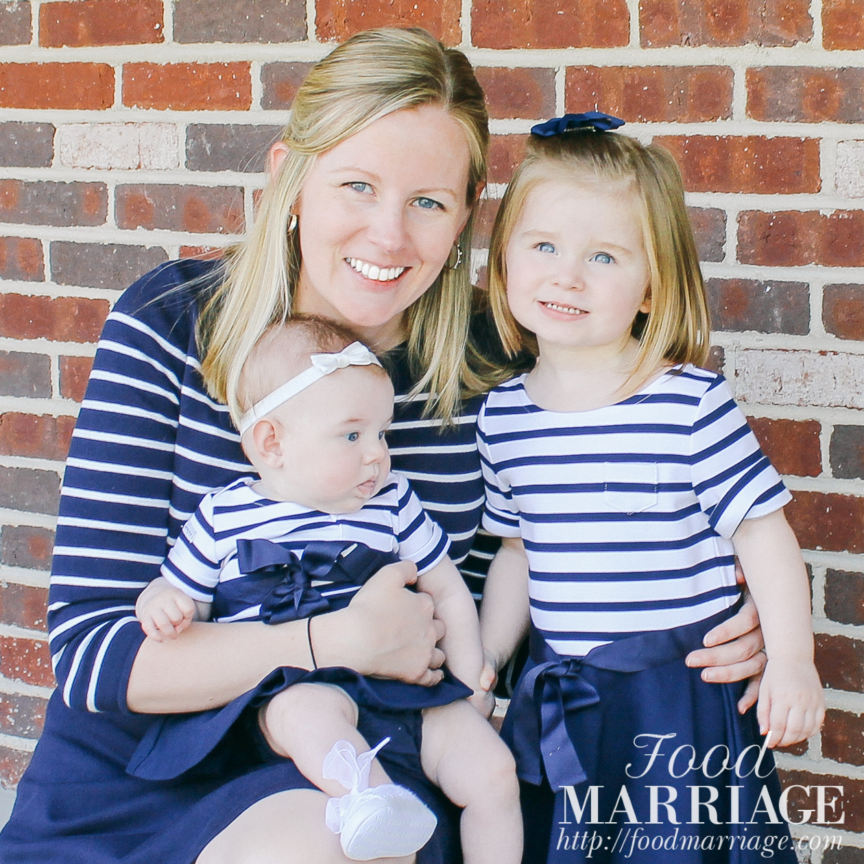 Mommy and Me Matching Outfits - Navy and White Striped Dresses from Ralph Lauren. Happy Mothers' Day!